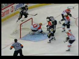 penguins flyers highlights mike lange highlights penguins vs flyers game 1 2009 playoffs youtube