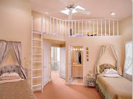 bedroom impressive twin bedroom for girls with mezzanine level and walk in wardrobe and white ladder and cream color scheme charming girls bedroom ideas to bedroom teen girl rooms walk