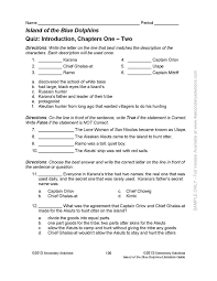 able pdf lesson plan for island of the blue dolphins