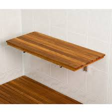 Image of: Teak Shower Stool Size