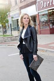 bb dakota faux leather jacket back cropped image