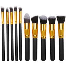yaheetech makeup brush set professional foundation blending blush eyeliner face powder makeup brush kit 10pcs black walmart
