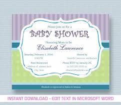 Microsoft Invitation Baby Shower Invite Template Word Bridal Invitation Templates
