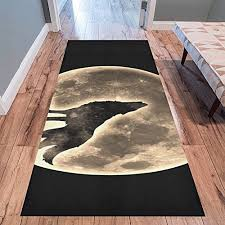 love nature sweet home s collection custom wolf runner rug carpet 10 x 3 3 indoor soft area rug