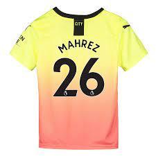 Manchester City Wechseltrikot 2019-20 – Kids mit Aufdruck Mahrez 26