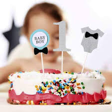 Online Shop Lovely Baby Boy 1st Cake Topper Baby Boy The First