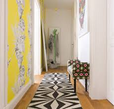 hallway office ideas. Yellow Accent Wall For The Small Apartment`s Hallway Office Ideas T
