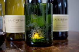diy etched wine bottle votive holder diy wine bottle decor etched wine bottle votive holder
