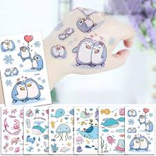 Cartoon Cute Kids Children Ocean Animal Dolphin Waterproof Temporary Tattoo Sticker Body Art Fake Tattoo