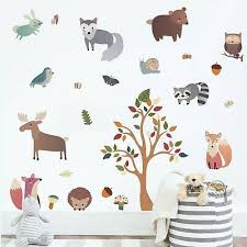 decalmile woodland animal wall decals