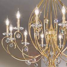 gold plated chandelier carat 12 bulb 5506165 01