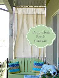 Diy Drop Cloth Curtains Drop Cloth Porch Curtains Gardening And Wildlife Pinterest