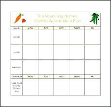 Excel Weekly Meal Planner Weekly Meal Planner Template Excel Healthy Planning Eating