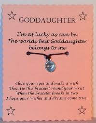 Goddaughter Quotes Awesome Goddaughter Gift Wish Bracelet Goddaughter Bracelet Friendship