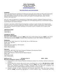 Impressive Inspiration Bi Developer Resume 8 Ssis Ssrs Resume