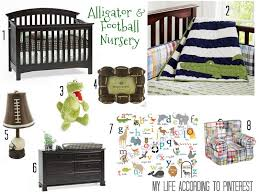 alligator football nursery