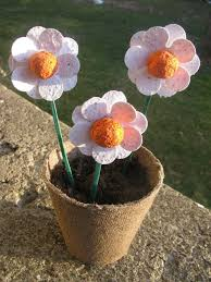 Biodegradable Paper With Flower Seeds Spring Gift Set Of 3 Plantable Flowers On Sticks In A Biodegradable