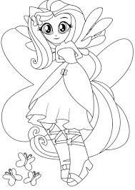 Small Picture Equestria Girls Fluttershy Boy Coloring Coloring Pages