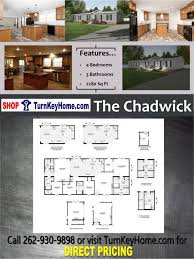 the chadwick home 4 bed 3 bath plan 2280 sf d from clayton homes modular plan