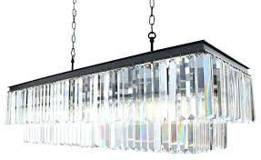 rectangular glass chandelier crystal lighting rectangle fringe transitional chandeliers clarissa drop