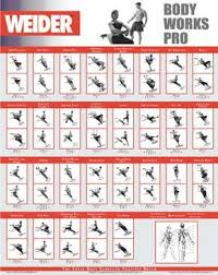 Weider Body Works Pro Chart Weider Workout Chart Images Gym Workout Chart Total Gym