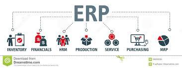 Erp Chart Enterprise Resource Planning Concept Erp Stock Illustration
