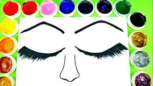 Small Picture Coloring Eyes Make Up Beautiful Eyeshadow Coloring Pages For Kids