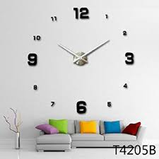 Small Picture Buy Modern 3D Frameless Large Wall Clock Online at Low Prices in