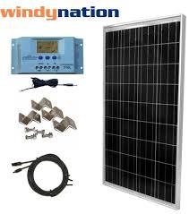 rv solar panel kit 100 watt 100w solar panel kit lcd solar controller 12v rv boat off grid