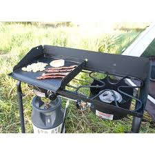 camp chef heavy duty steel deluxe griddle with built in grease drain
