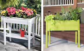 Small Picture Amazing of Raised Garden Containers Deck Vegetable Garden Ideas