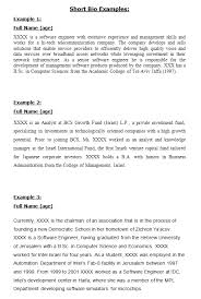 biography templates examples personal professional  sample completed biography form · biography sample 25 · short bio examples