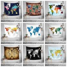 150 130cm world map print tapestry wall hanging beach picnic throw rug blanket tablecloth decor outdoor yoga kids mat 9styles aaa1235 large wall tapestries