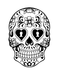 Day Of The Day Sugar Skull Coloring Page 3 Day Of The Dead