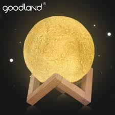 3d print moon lamp rechargeable moon light led night light touch switch dimmable usb table lamp