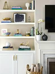 shelf decorating ideas living room