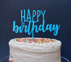 Happy Birthday Cake Topper 3d Printed Birthday Topper Etsy