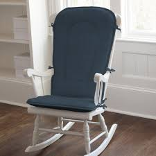 wooden rocking chair with cushion. Exellent Rocking Dining Room Gorgeous White Wood Stained Rocking Chair With Chic Navy  Blue Cushion High Back Standing In Wooden Rocking Chair With Cushion