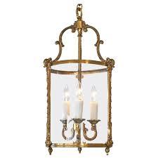 french antique brass lantern for