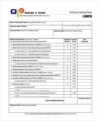 Training Tracking Template Training Sheet Template 9 Free Pdf Format Download Free
