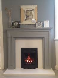 the virage installed into a bossart fireplace finished in manor house grey by farrow ball a classic look that could ve easily achieved in any living