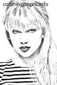 Small Picture TAYLOR SWIFT Coloring Pages PDF Free coloring pages