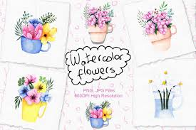 Browse 50 vector icons about flower term. Free Illustrations Download Watercolor Flowers In Cup Free Design Resources