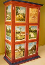 mexican painted furniturehand painted cabinets mexican armoiresmedia cabinets storage
