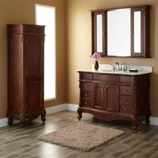 Bathrooms Cabinets : Bathroom Vanity With Linen Cabinet 5 Foot ...