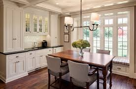 dining room white cabinets. Farmhouse Dining Room With Beverage Station White Cabinets Joseph O Hughes