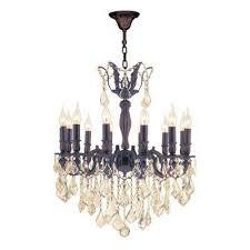 versailles 12 light flemish brass chandelier with golden teak crystal
