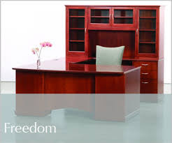 freedom wood desk cherry office furniture
