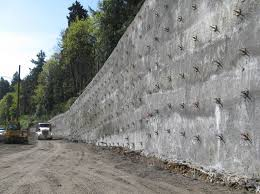 rening wall with soil nails south on hwy 43