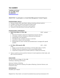 Sample Of Banking Resume Sample Bank Teller Resume No Experience Httpwwwresumecareer 10